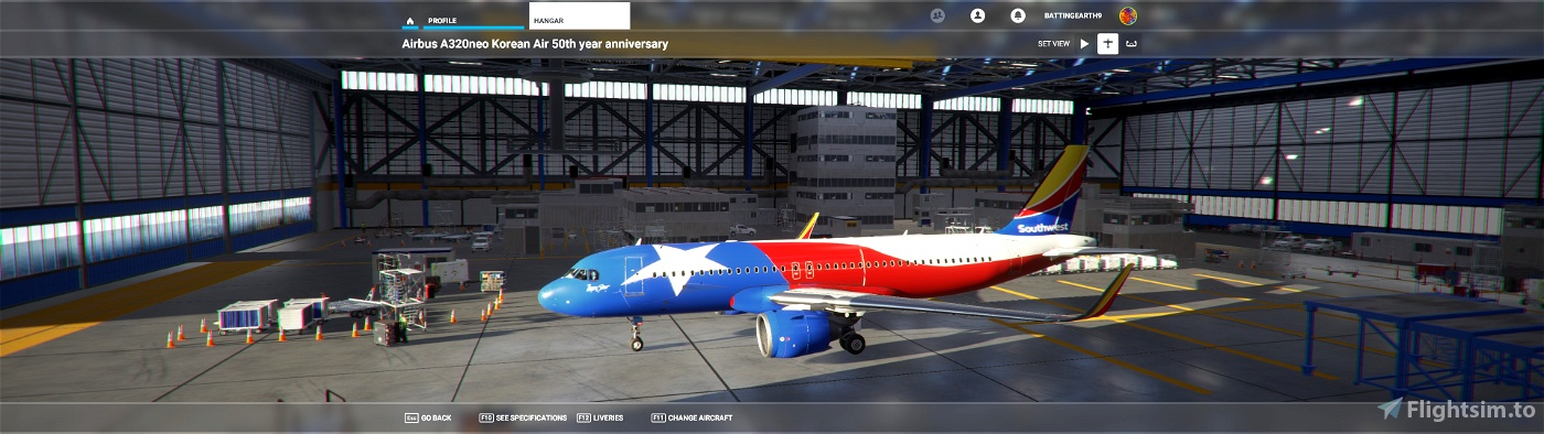 Southwest Airlines Lone Star One Flight Simulator 2020