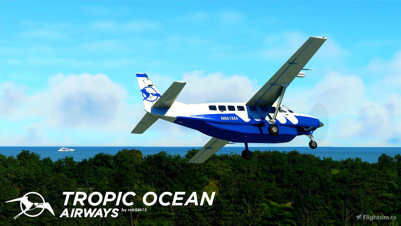 Tropic Air Cessna 208b Grand Caravan EX Livery Flight Simulator 2020