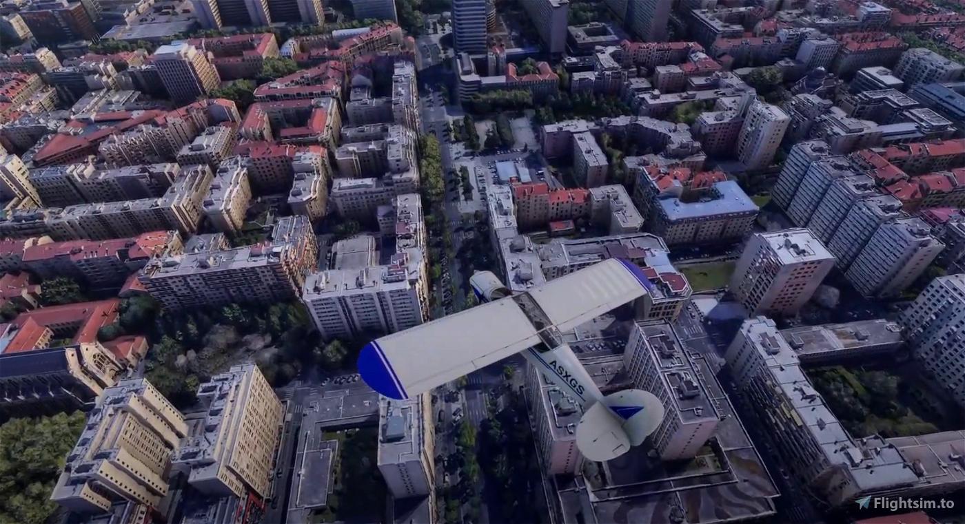 Lyon in 3D Photogrammetry Flight Simulator 2020