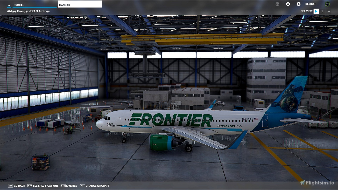 A32NX 33 Unique Frontier Airlines livery pack[4K] With Cups