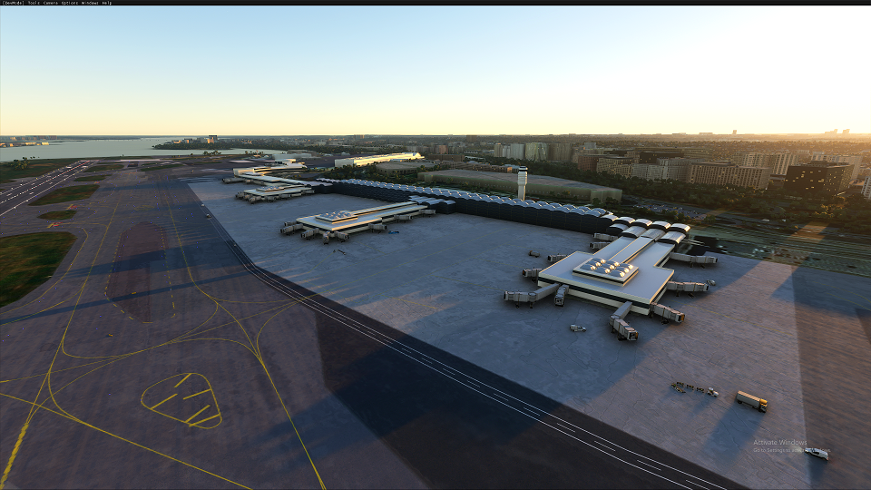 KDCA Ronald Reagan Washington National Airport Flight Simulator 2020