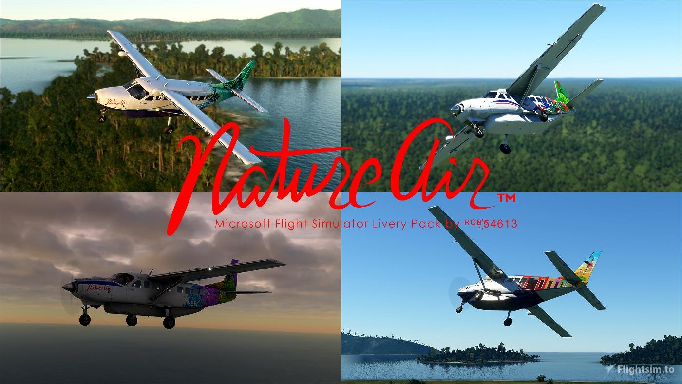 Nature Air Cessna 208b Grand Caravan EX Livery Pack Flight Simulator 2020