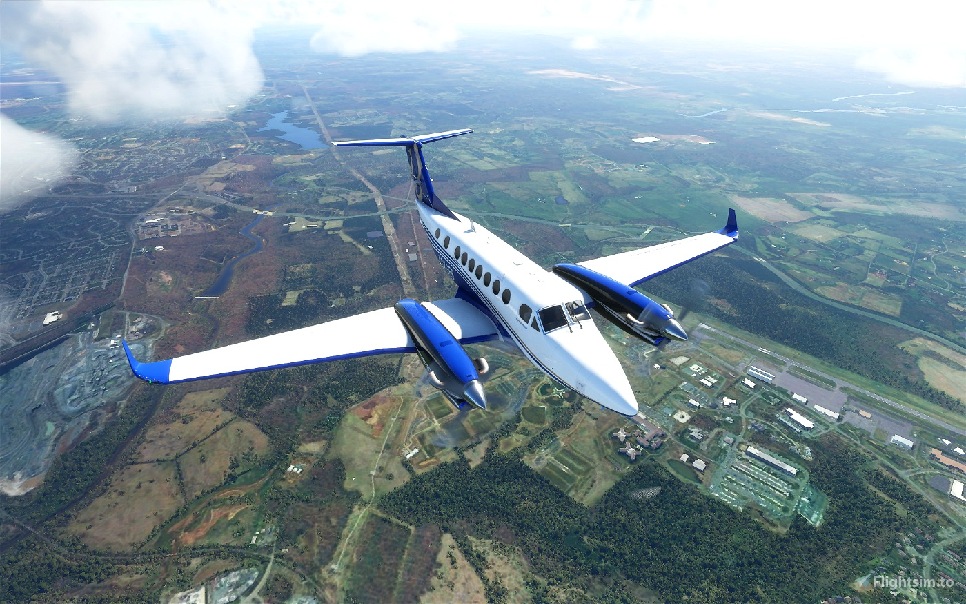 King Air 350i Metals and Alternate Color Liveries (8 total) Flight Simulator 2020