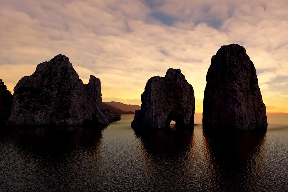 The Faraglioni (Sea Stacks), Capri, Italy Flight Simulator 2020