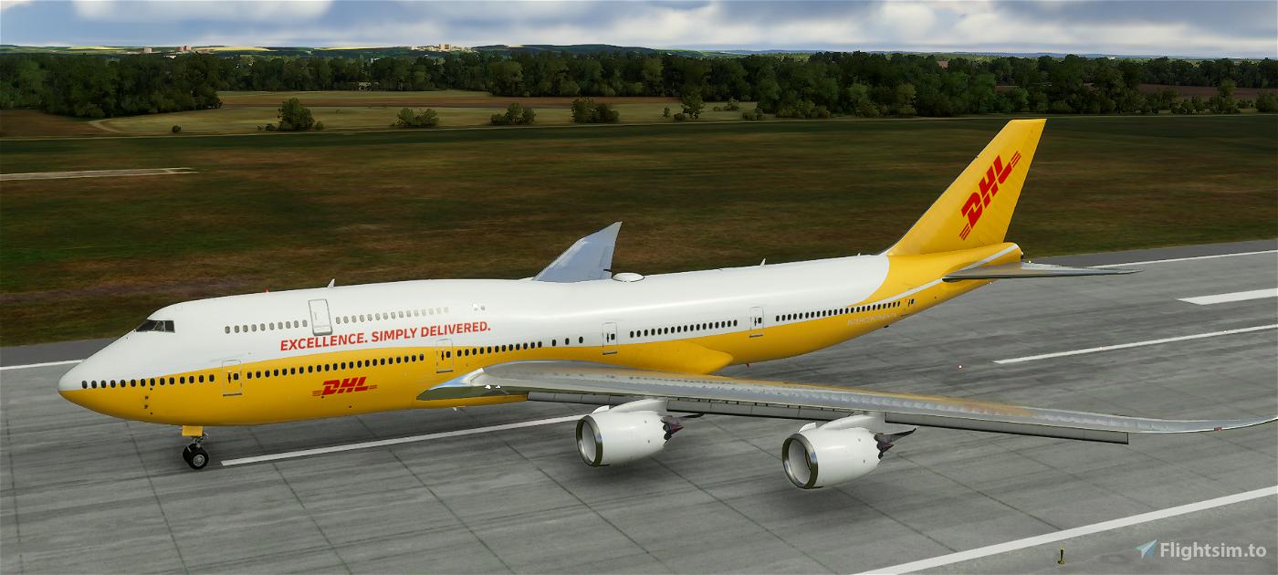 747-800i DHL  Flight Simulator 2020
