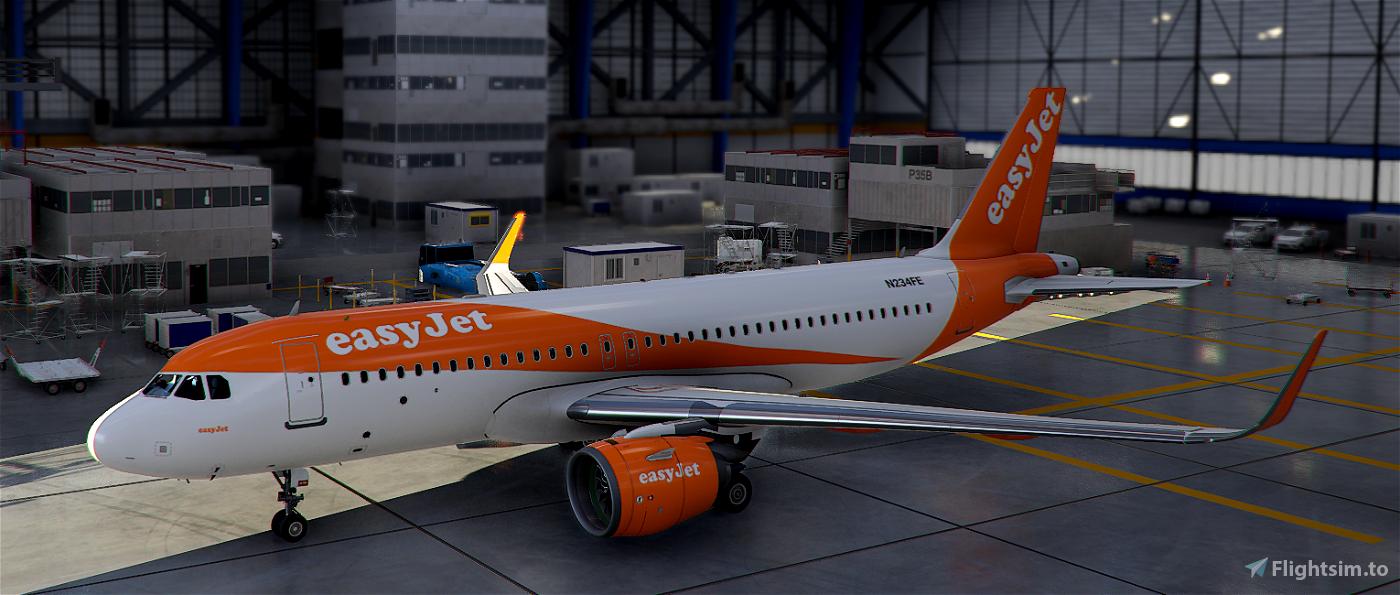 Easy Jet A320 Flight Simulator 2020