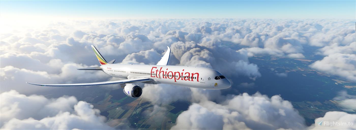 B787 Ethiopian Airlines | 4K Flight Simulator 2020
