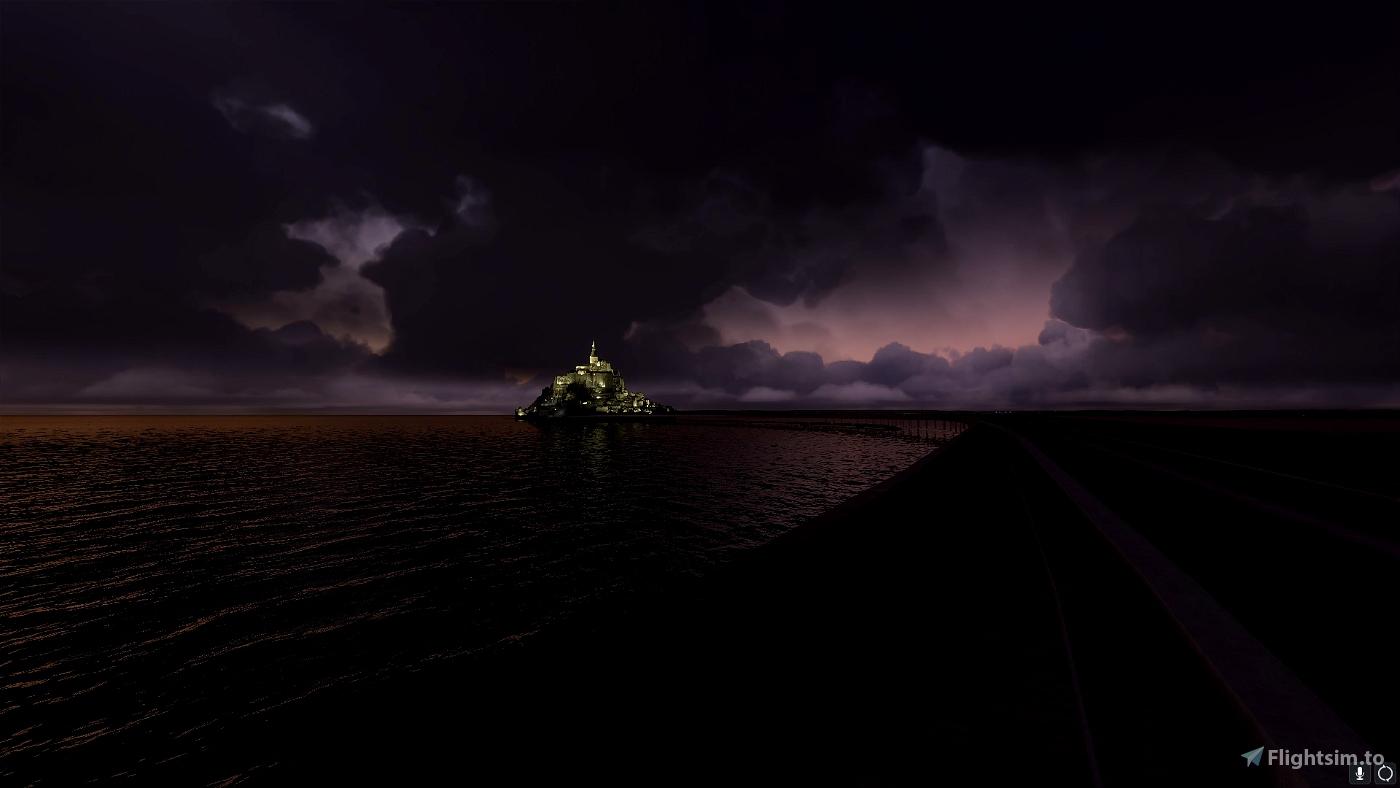 Mont St Michel - Lights on Flight Simulator 2020
