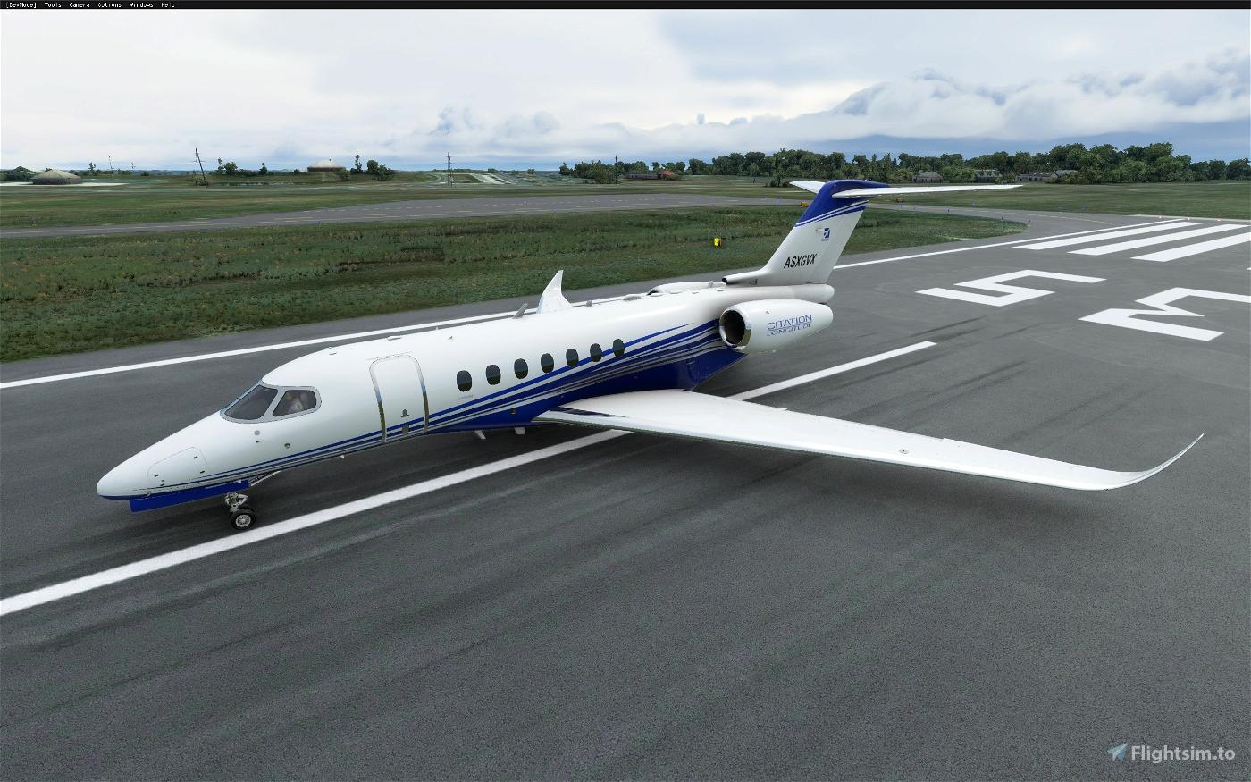 Cessna Longitude alternate color stripes (8 colors) Flight Simulator 2020