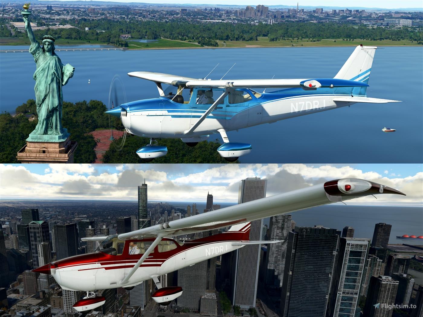 Custom C172 Metallic Paint Jobs Flight Simulator 2020