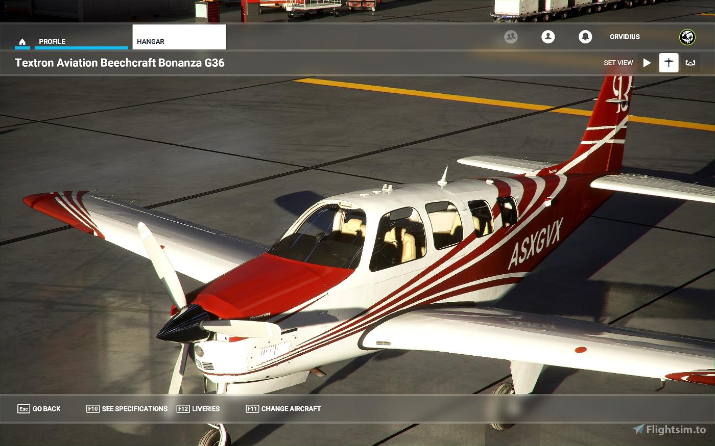 Bonanza alternate color stripes (11 colors) Flight Simulator 2020