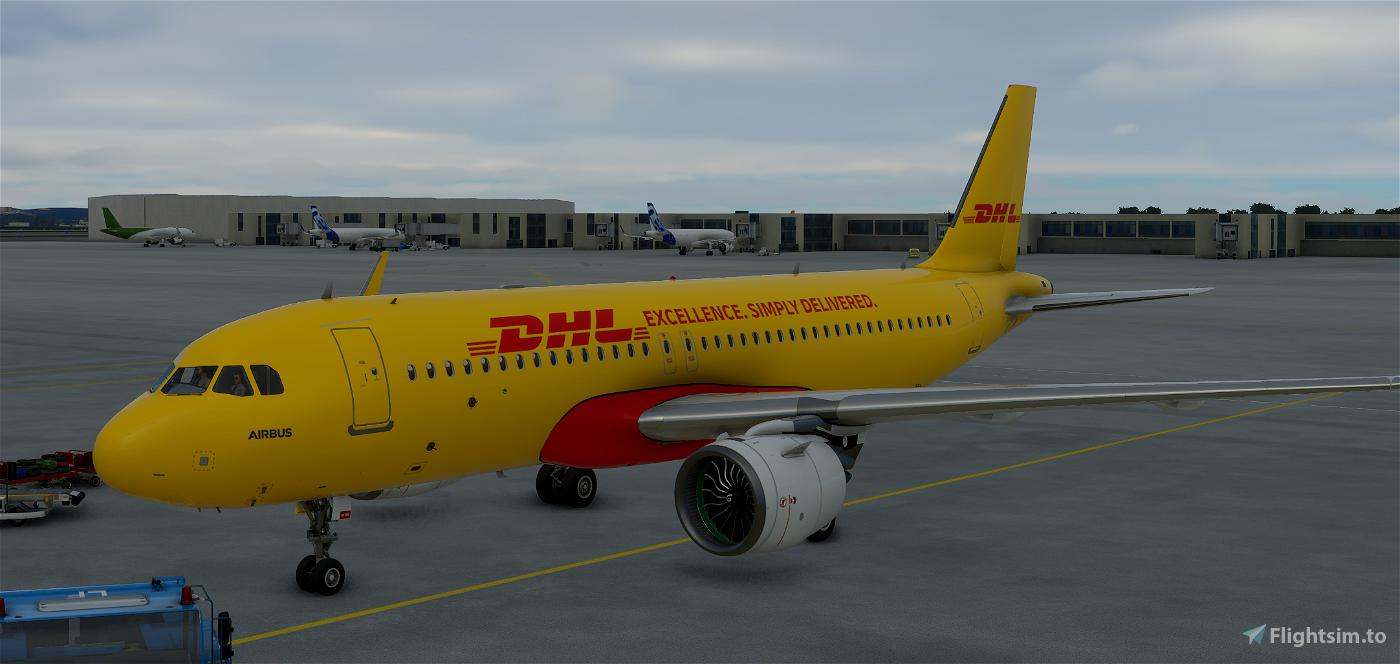 DHL A320 Cargo Flight Simulator 2020