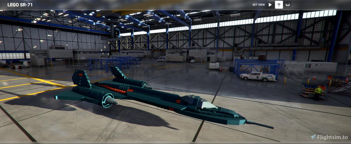 LEGO SR-71 Flight Simulator 2020