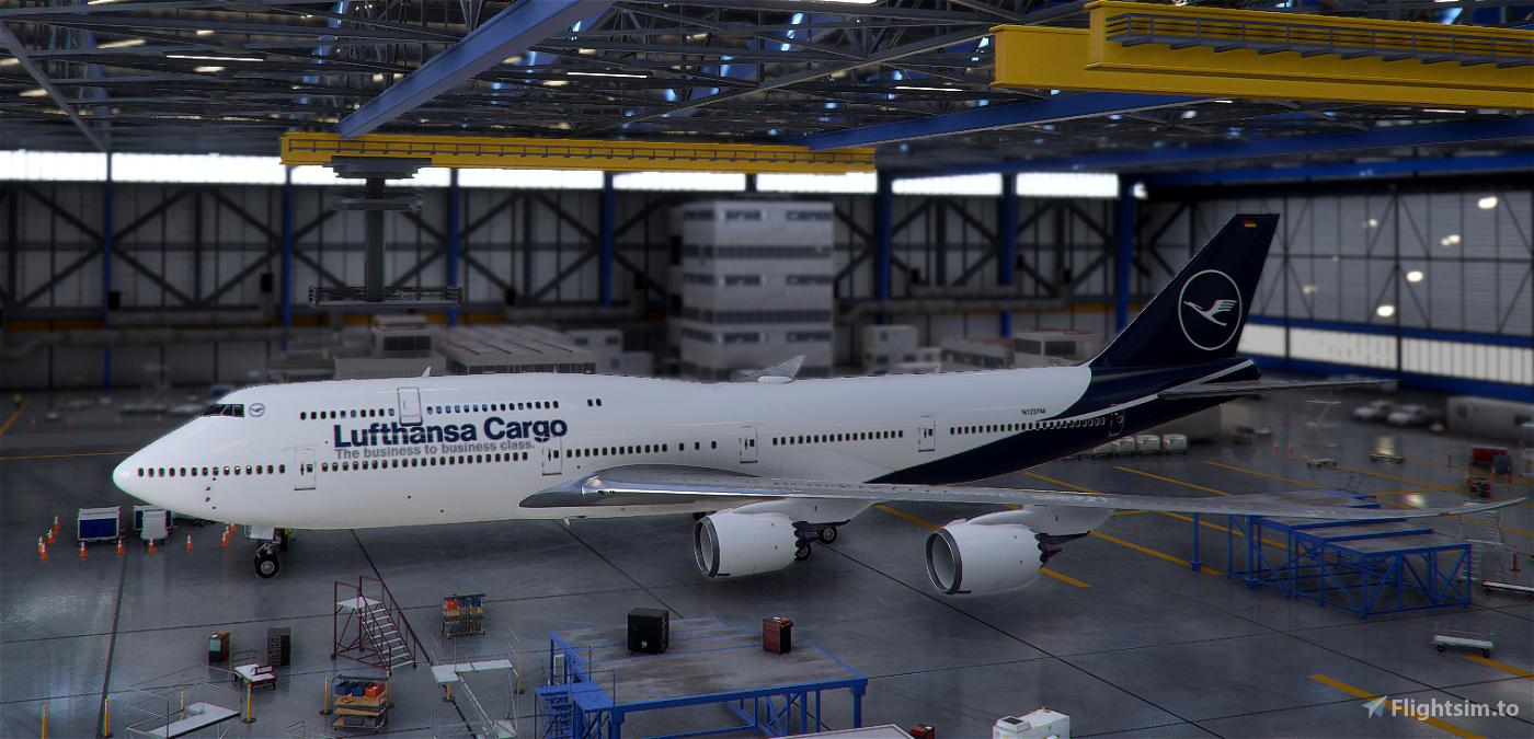 747-800 Lufthansa Cargo Flight Simulator 2020