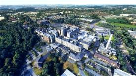 Derriford Hospital. Image Flight Simulator 2020