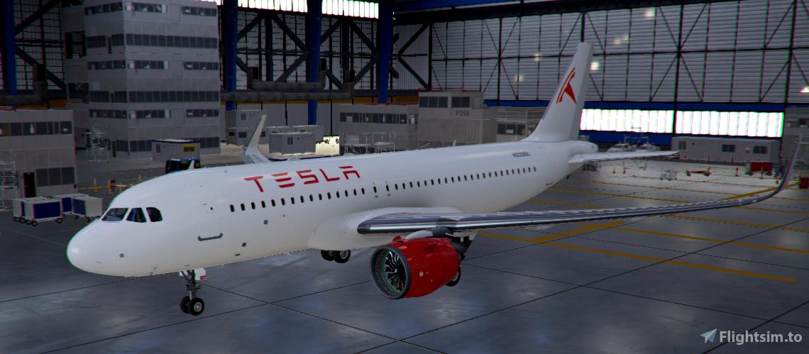 Tesla A320neo Livery