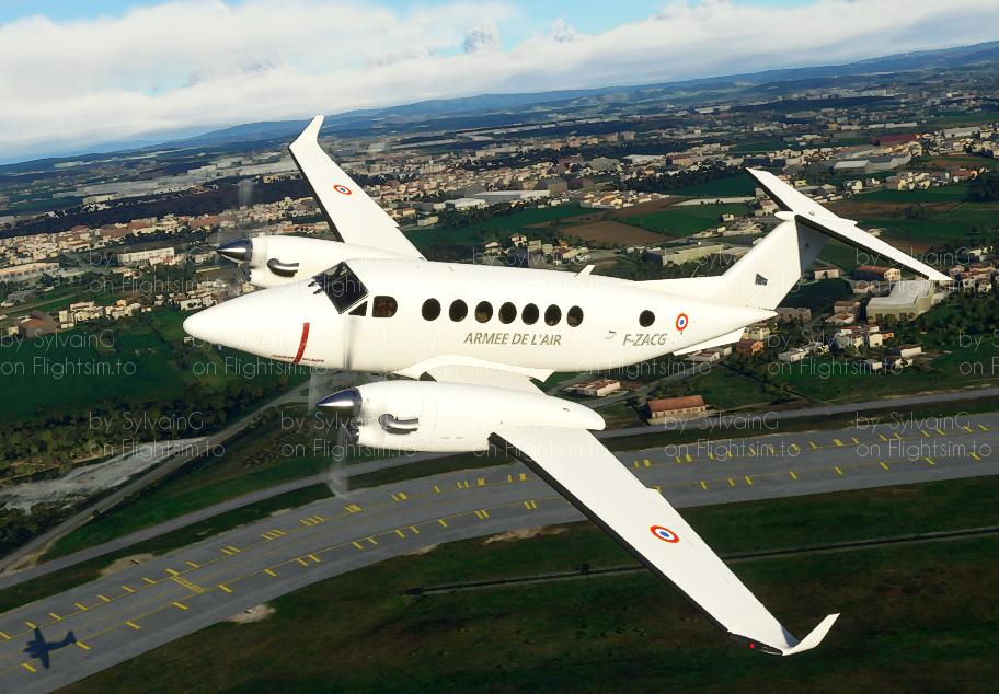 KingAir350 French Air Force F-ZACG Flight Simulator 2020