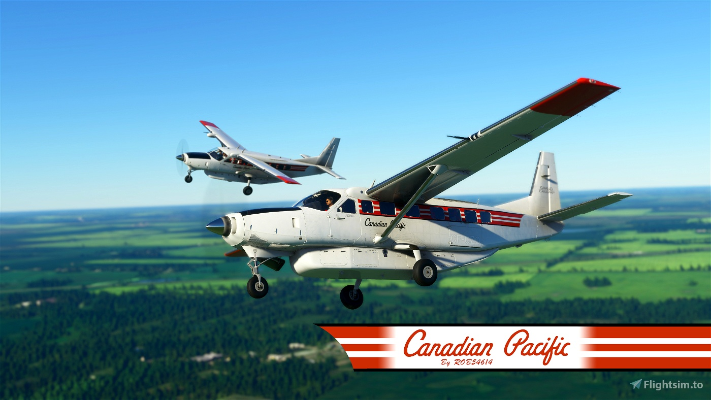 Canadian Pacific Cessna 208b Grand Caravan EX Livery Flight Simulator 2020