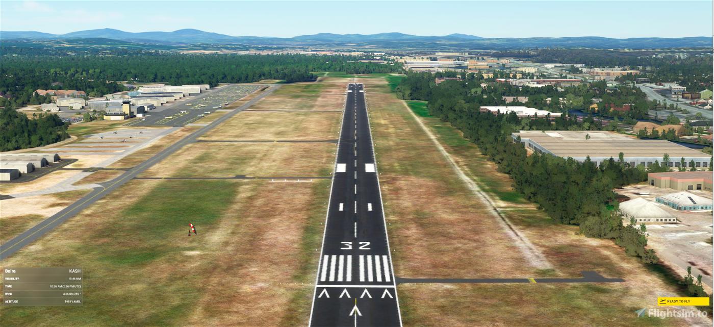 Boire Field (KASH) Nashua, NH Airport Flight Simulator 2020