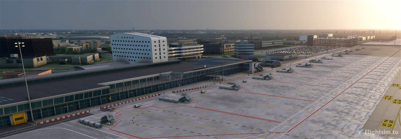 Eindhoven Airport / EHEH - incl Custom Buildings Image Flight Simulator 2020