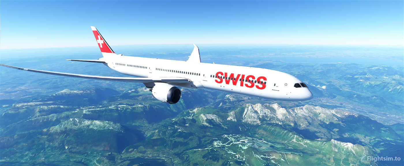B787 SWISS | 4K Flight Simulator 2020