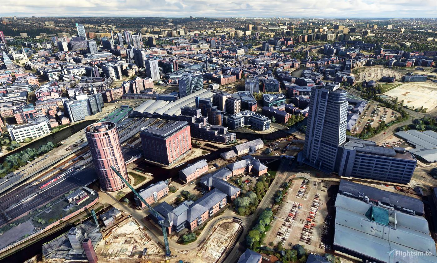 Leeds City Centre Photogrammetry, England Flight Simulator 2020