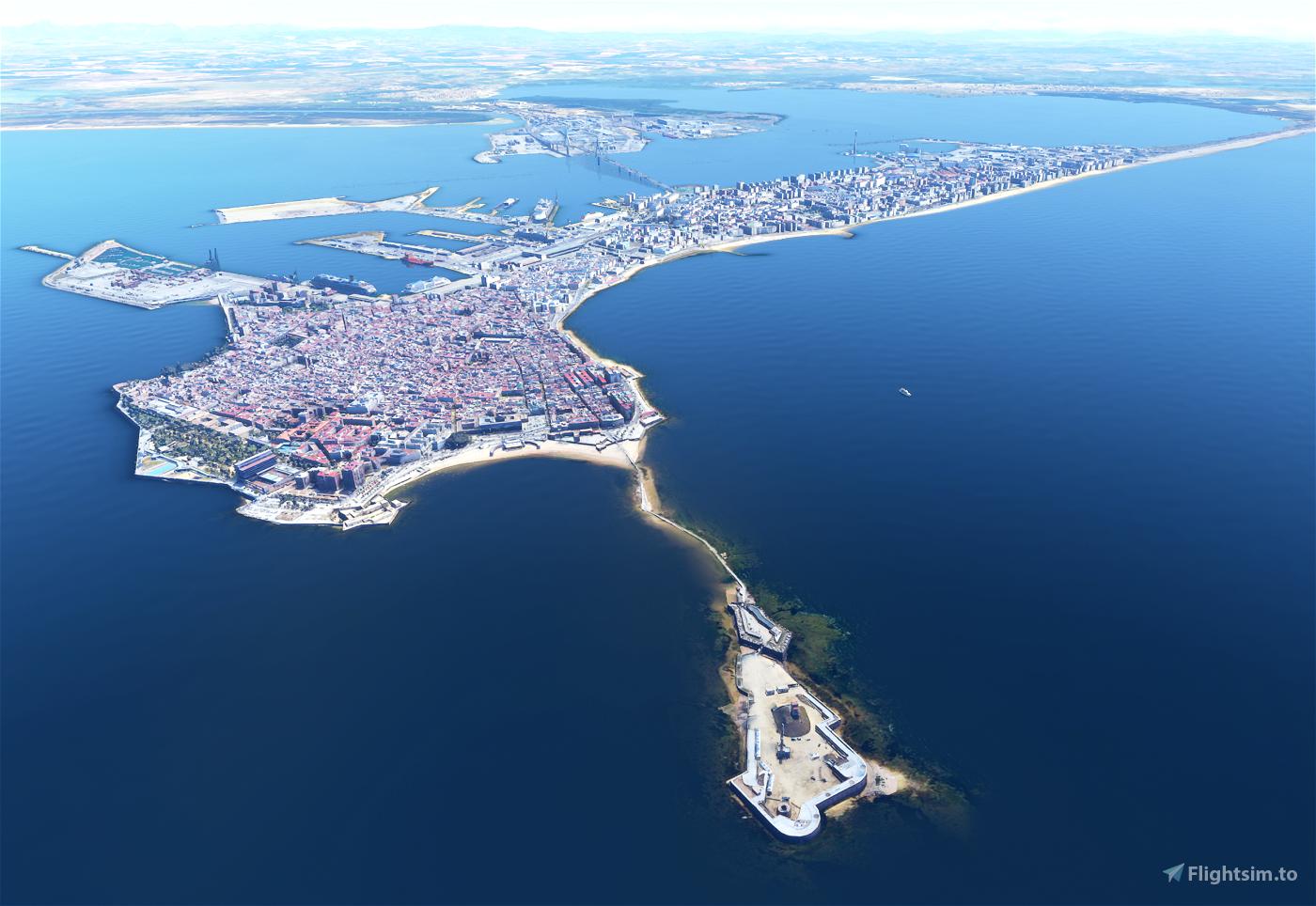 Updated - Cadiz Landmarks - Full City in Photogrammetry Flight Simulator 2020