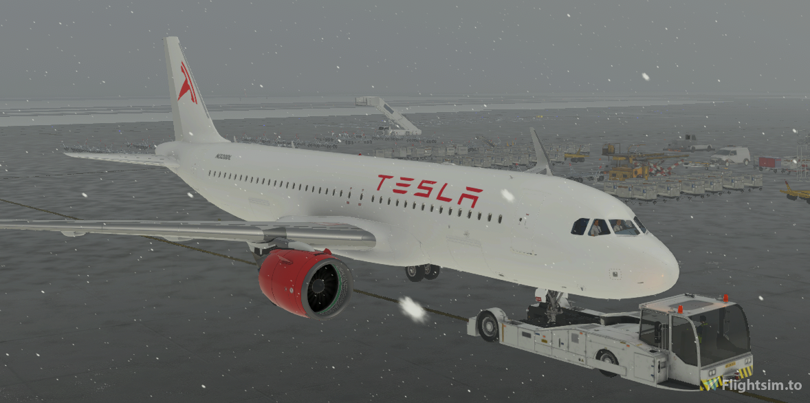 Tesla A320neo Livery  Flight Simulator 2020