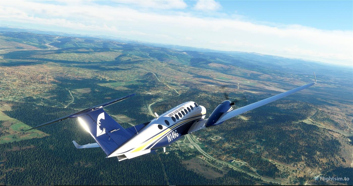 Above Alaska Aviation King Air 350 Flight Simulator 2020