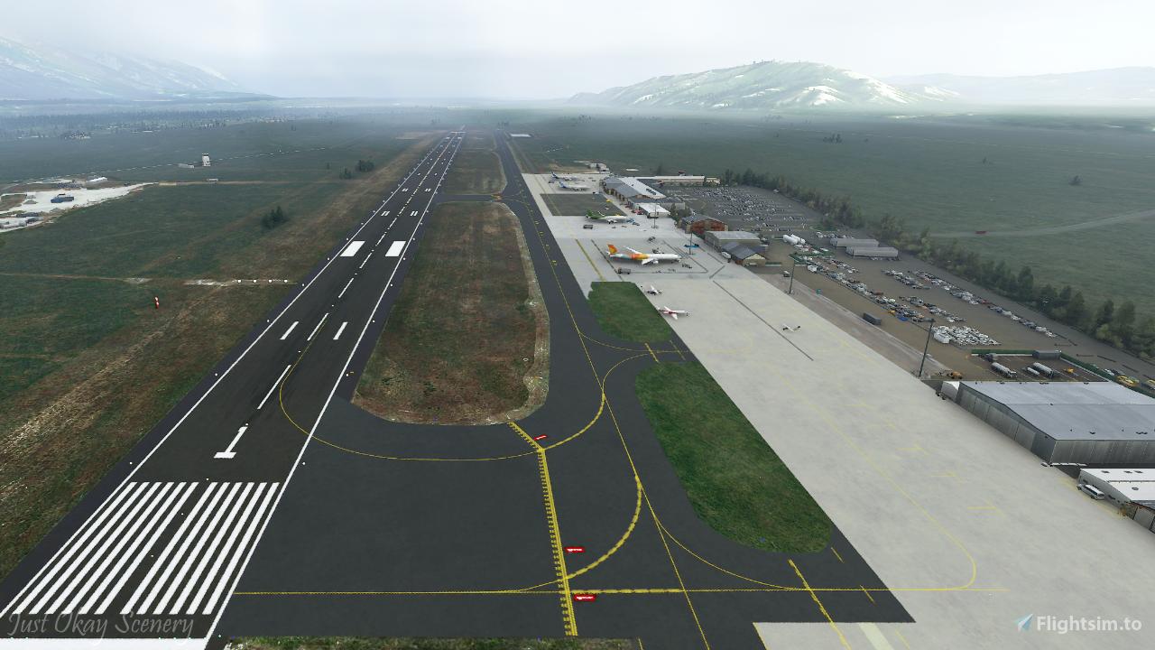 Jackson Hole Airport KJAC Flight Simulator 2020
