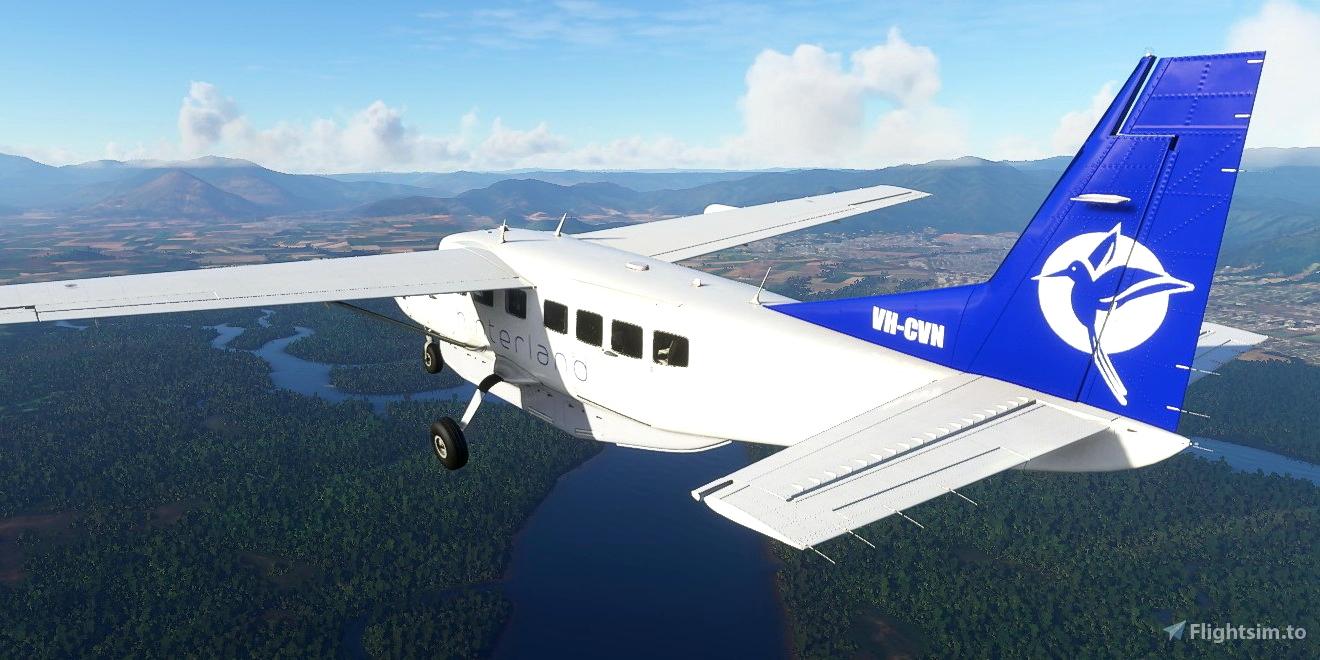 Cessna C208B Grand Caravan VH-CVN Hinterland Aviation Flight Simulator 2020