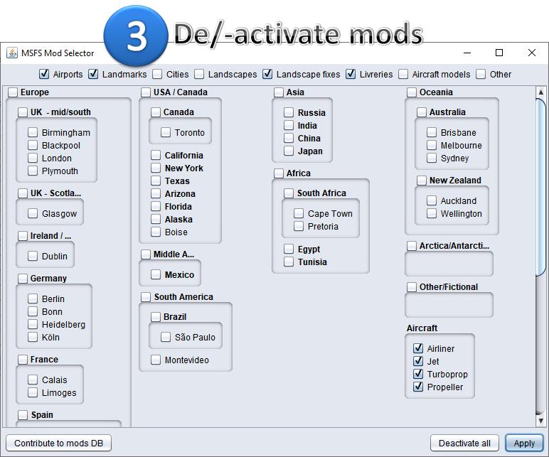 Mod Selector 0.9 + Online mods DB