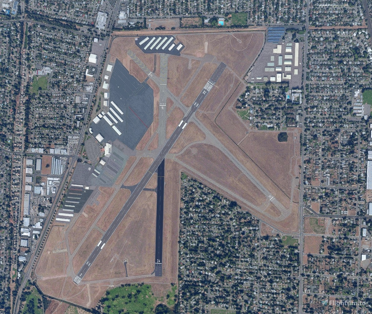 Runway and Taxiway Glitch Fix for KSAC Flight Simulator 2020