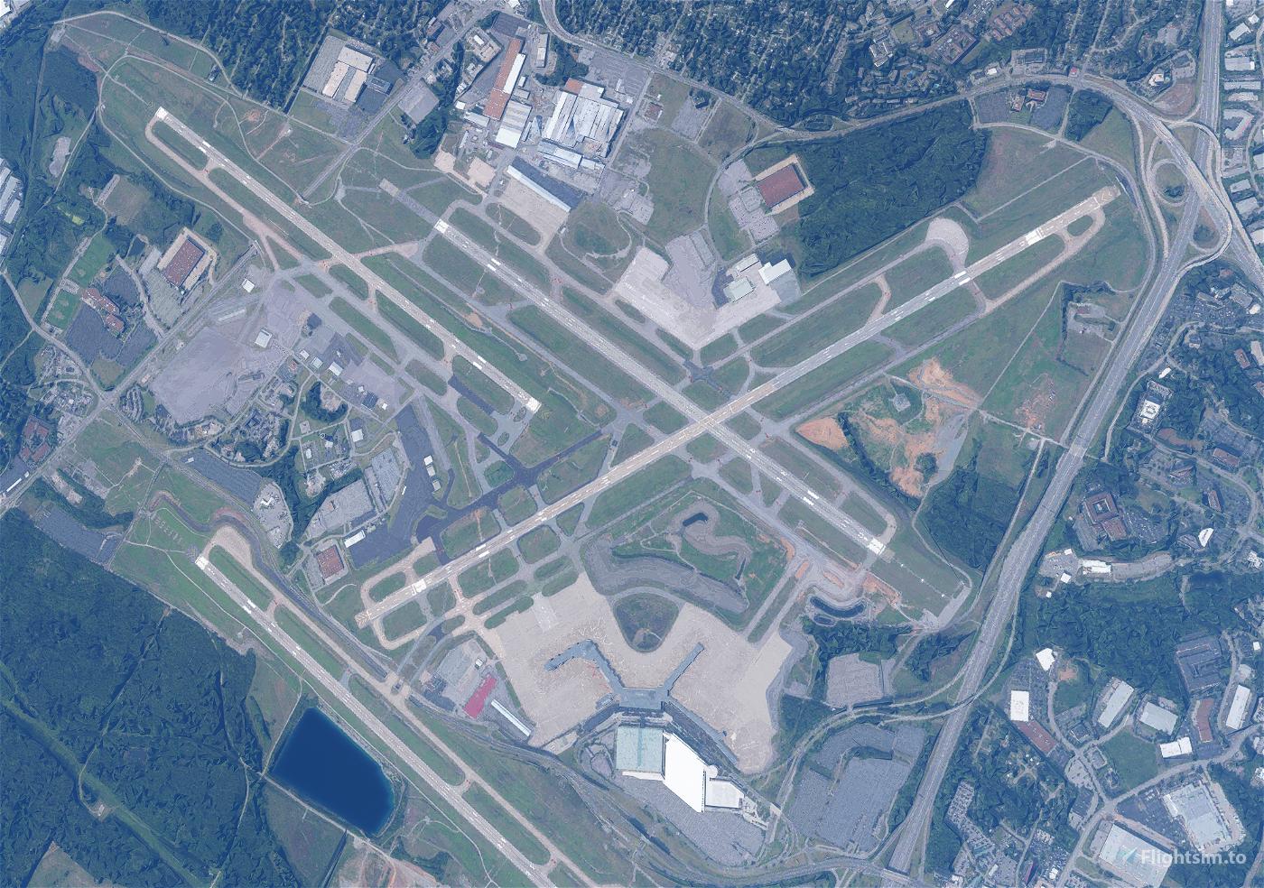 Runway and Taxiway glitch Fix for KBNA (Nashville International) Flight Simulator 2020