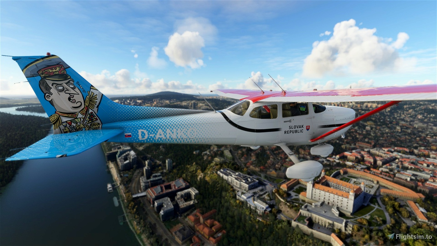 Slovak Government (Danko by Shooty) Livery for C172 Flight Simulator 2020