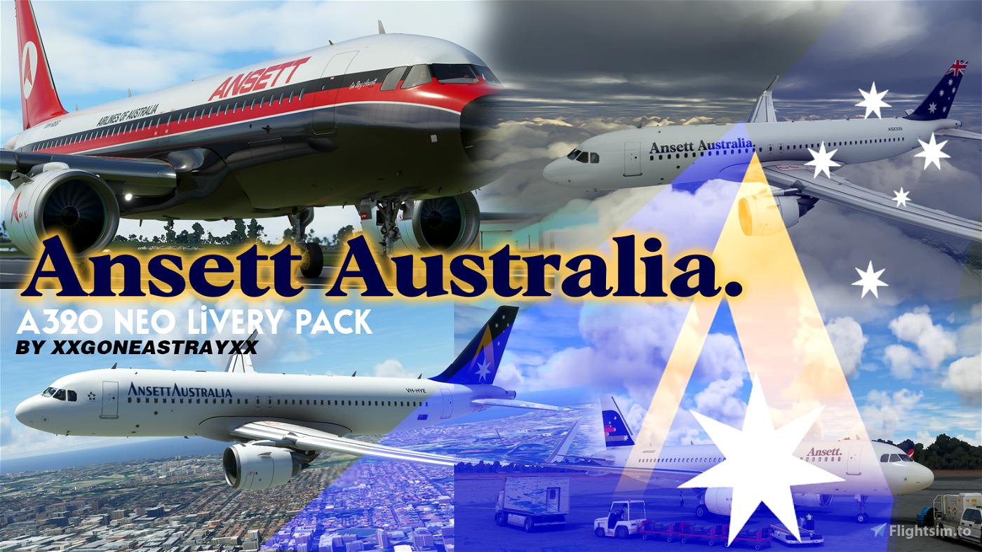 Ansett Australia Pack *Works with UPDATE* Flight Simulator 2020