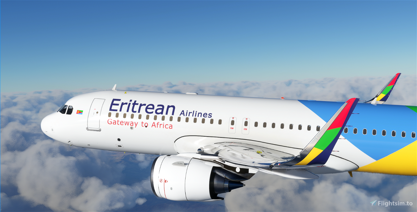 A320 Eritrean Airlines 6k