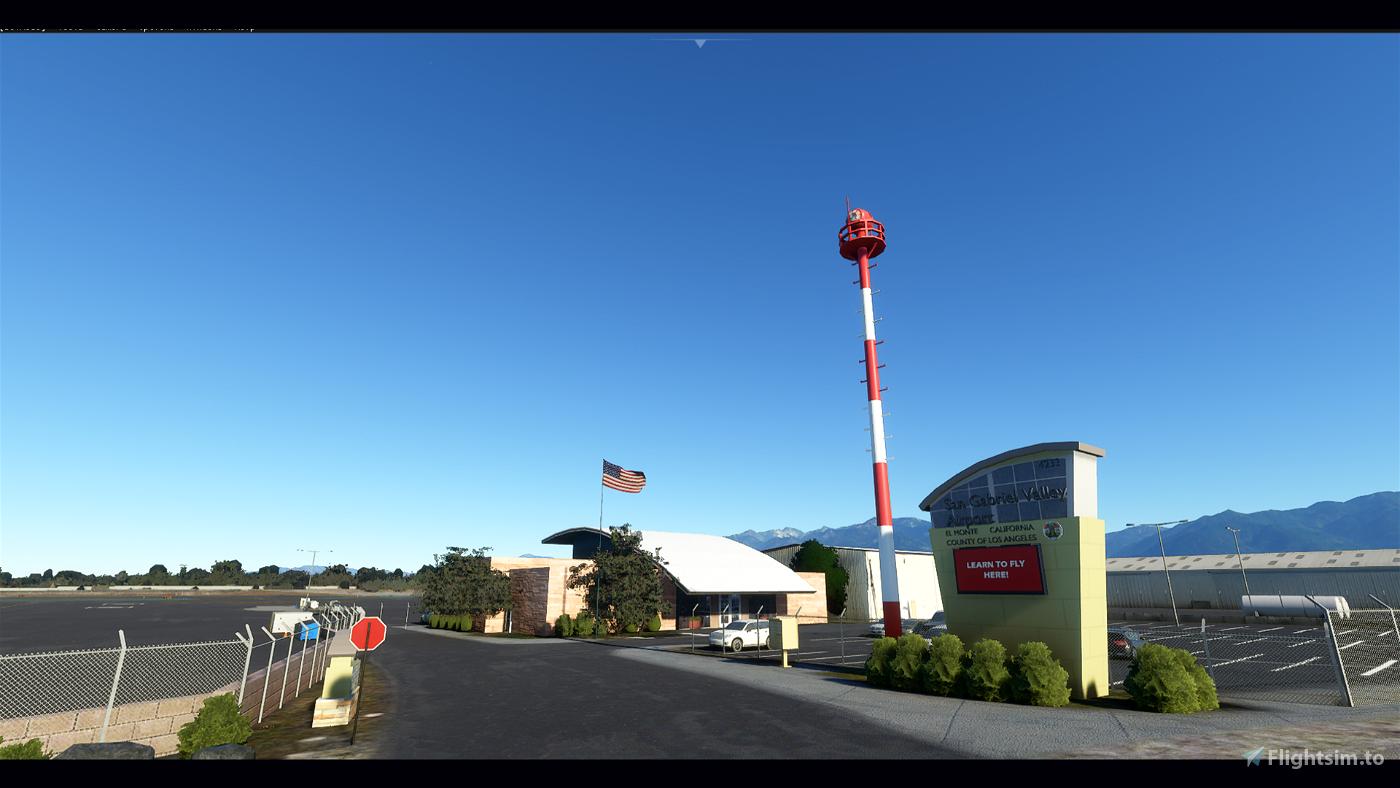 KEMT El Monte Airport (San Gabriel Valley Airport) Flight Simulator 2020