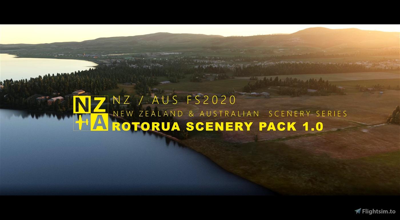 NZA Simulations -  NZRO & Rotorua Scenery Pack 1.1 Flight Simulator 2020