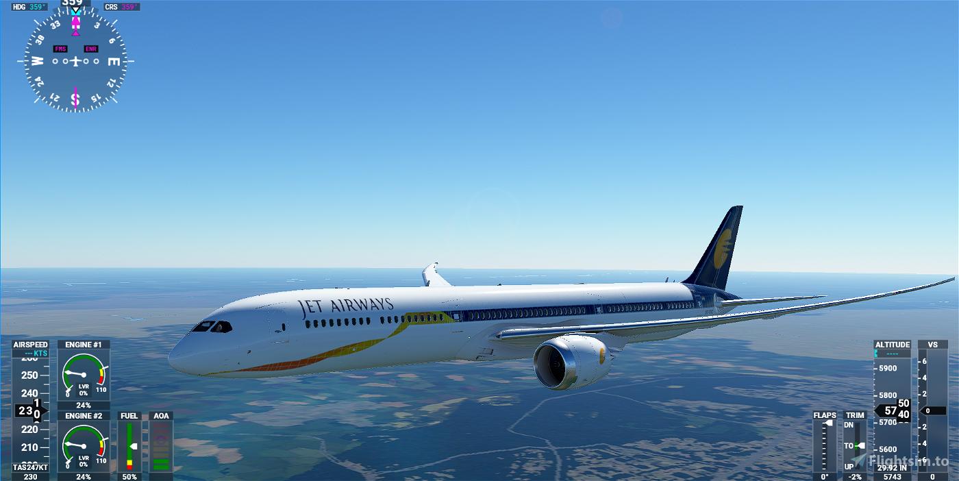 Boeing 787 Jet Airways Flight Simulator 2020
