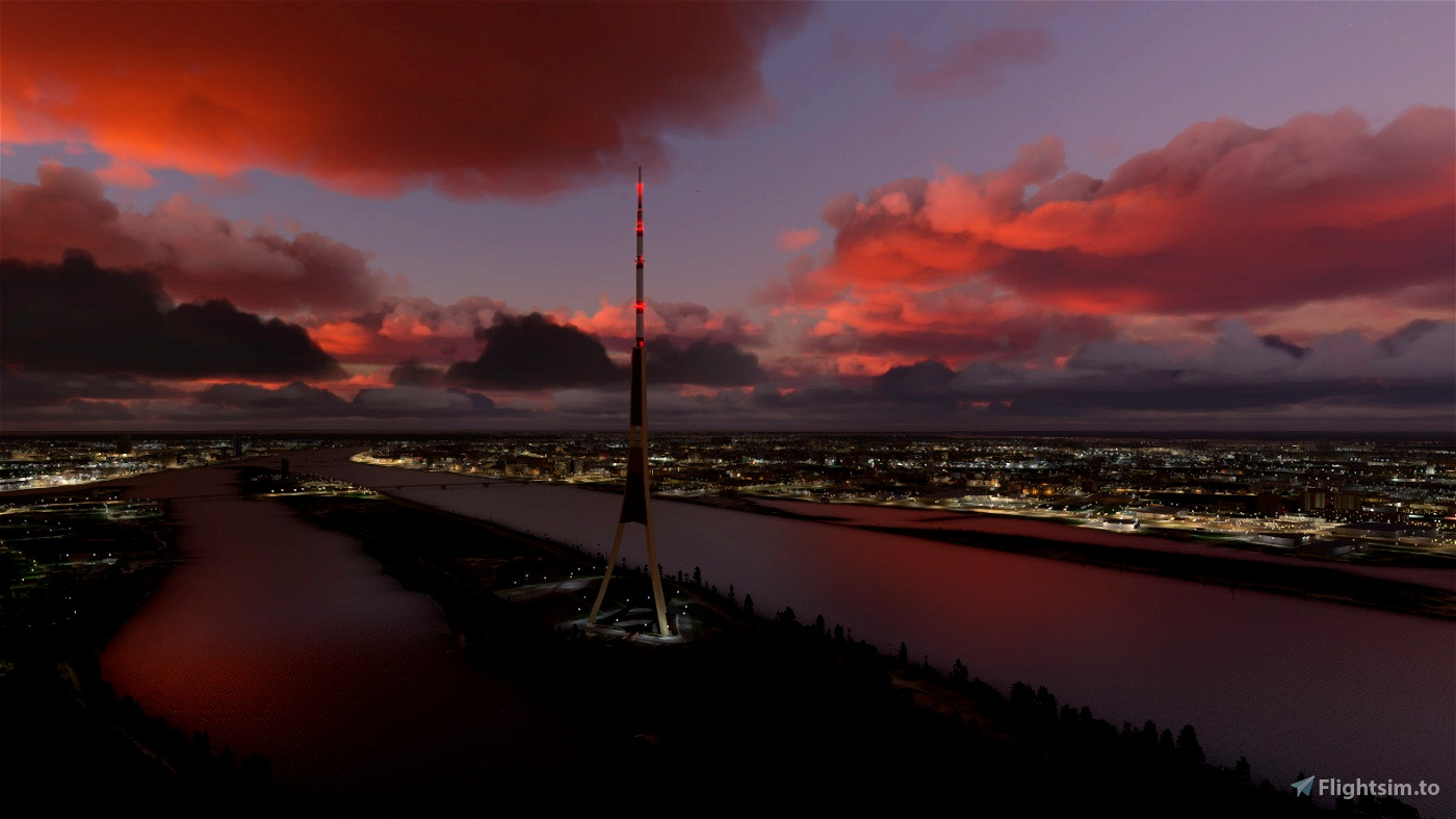 Riga Landmarks, Latvia Flight Simulator 2020