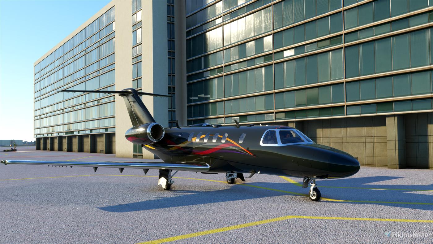 Citation CJ4 Dark Gray 4K Flight Simulator 2020