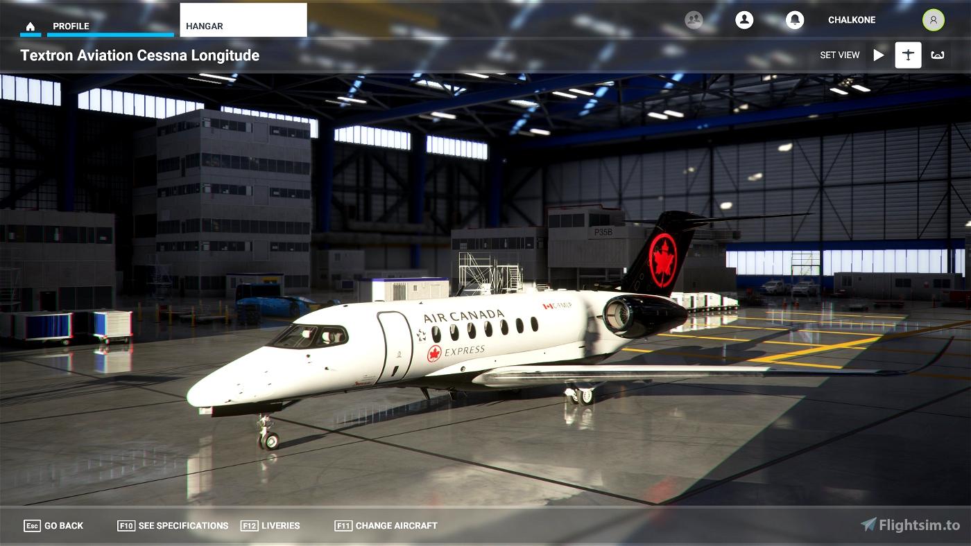 Citation Longitude Air Canada Express