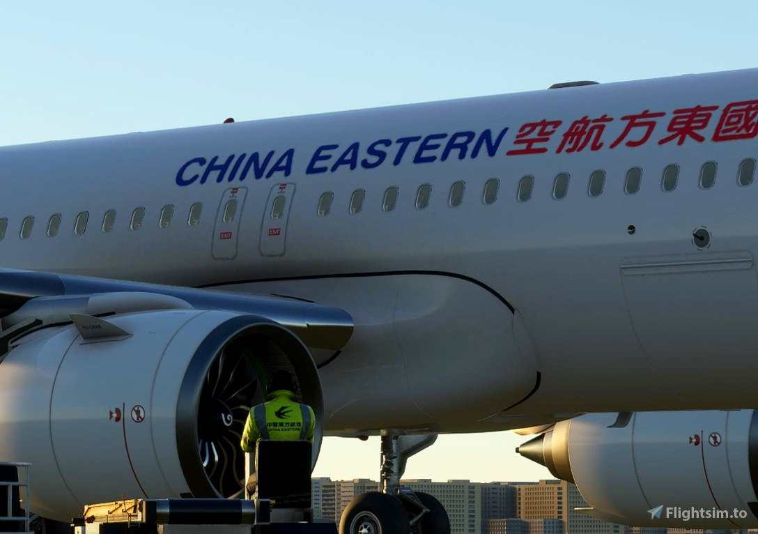 China Eastern Ground Crew Textures