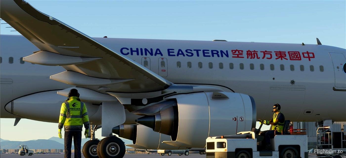 China Eastern Ground Crew Textures Flight Simulator 2020