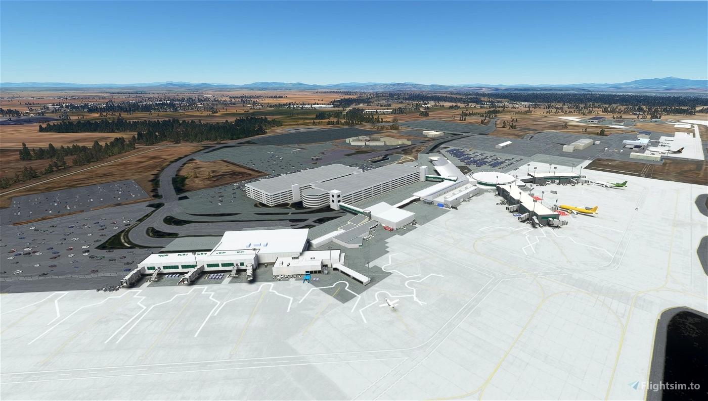 Spokane International Airport, Spokane WA USA - KGEG V1.32 Flight Simulator 2020