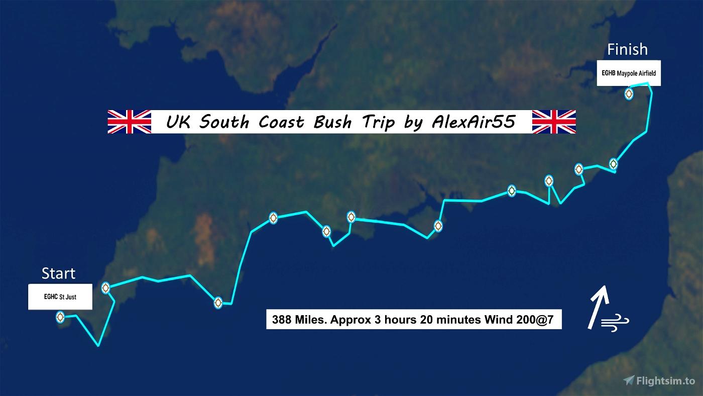 UK South Coast Bush Trip. (Eastbound)