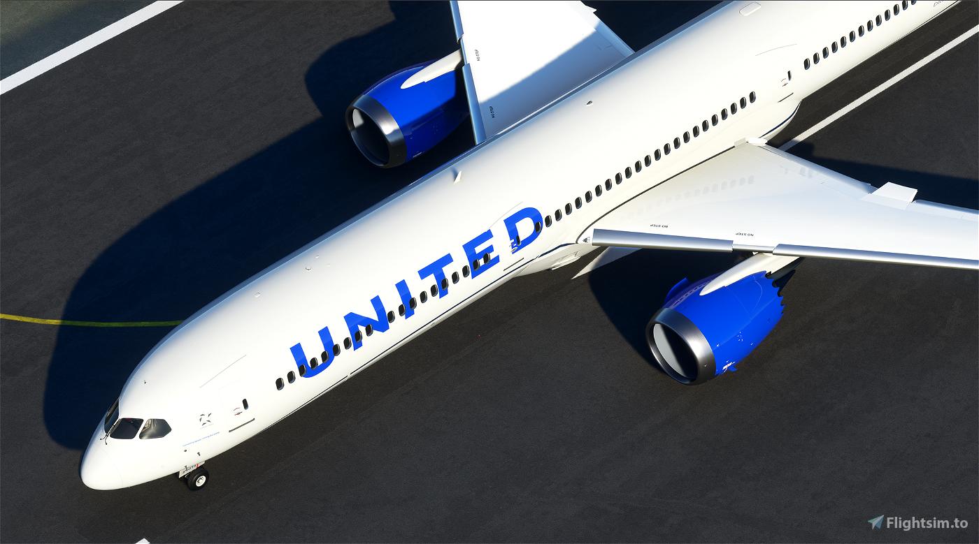 United Airlines B787-10 New colors Flight Simulator 2020