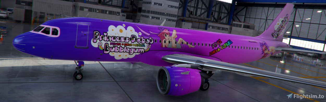 a320 neo Princess Robot Bubblegum [8k downscaled, updated]