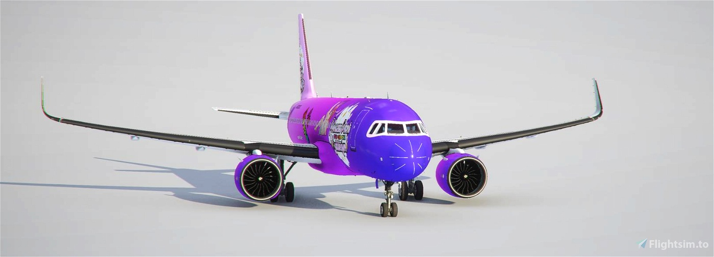 a320 neo Princess Robot Bubblegum [8k downscaled, updated] Flight Simulator 2020